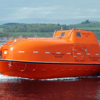 Twin Fall Davit Launched Lifeboat